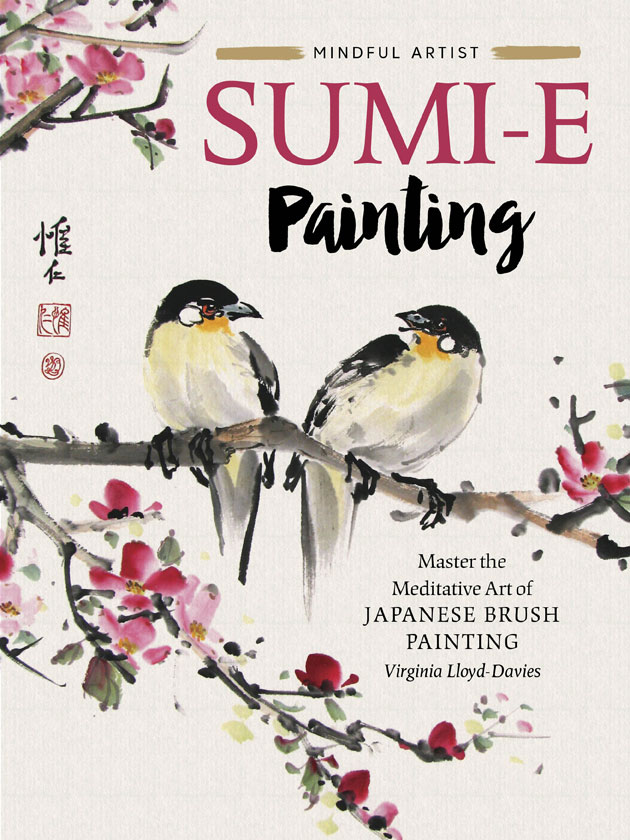 Sumi-e Book cover with 2 birds on a branch Picture